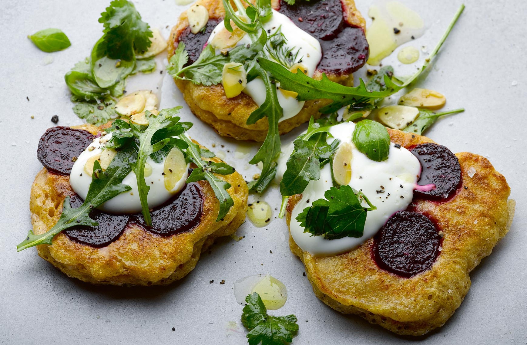 Ottolenghi Beetroot blinis | Colin Campbell - Food Photographer