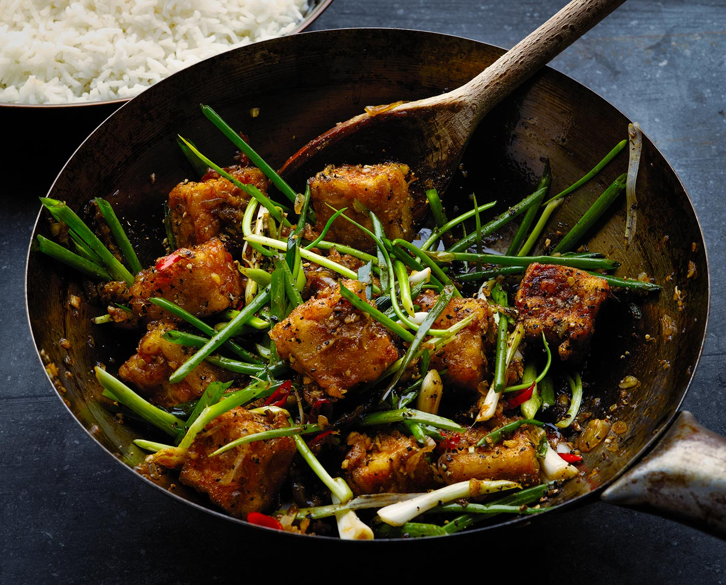 Black pepper tofu | Colin Campbell-Food Photographer