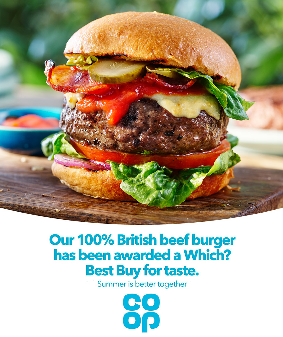 Co Op Best Burger | Colin Campbell-Food Photographer
