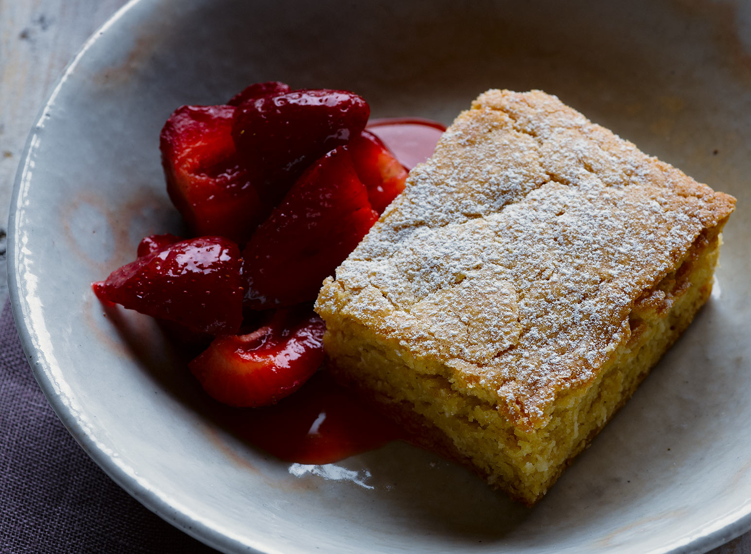 Cake and strawberries | Colin Campbell - Food Photographer
