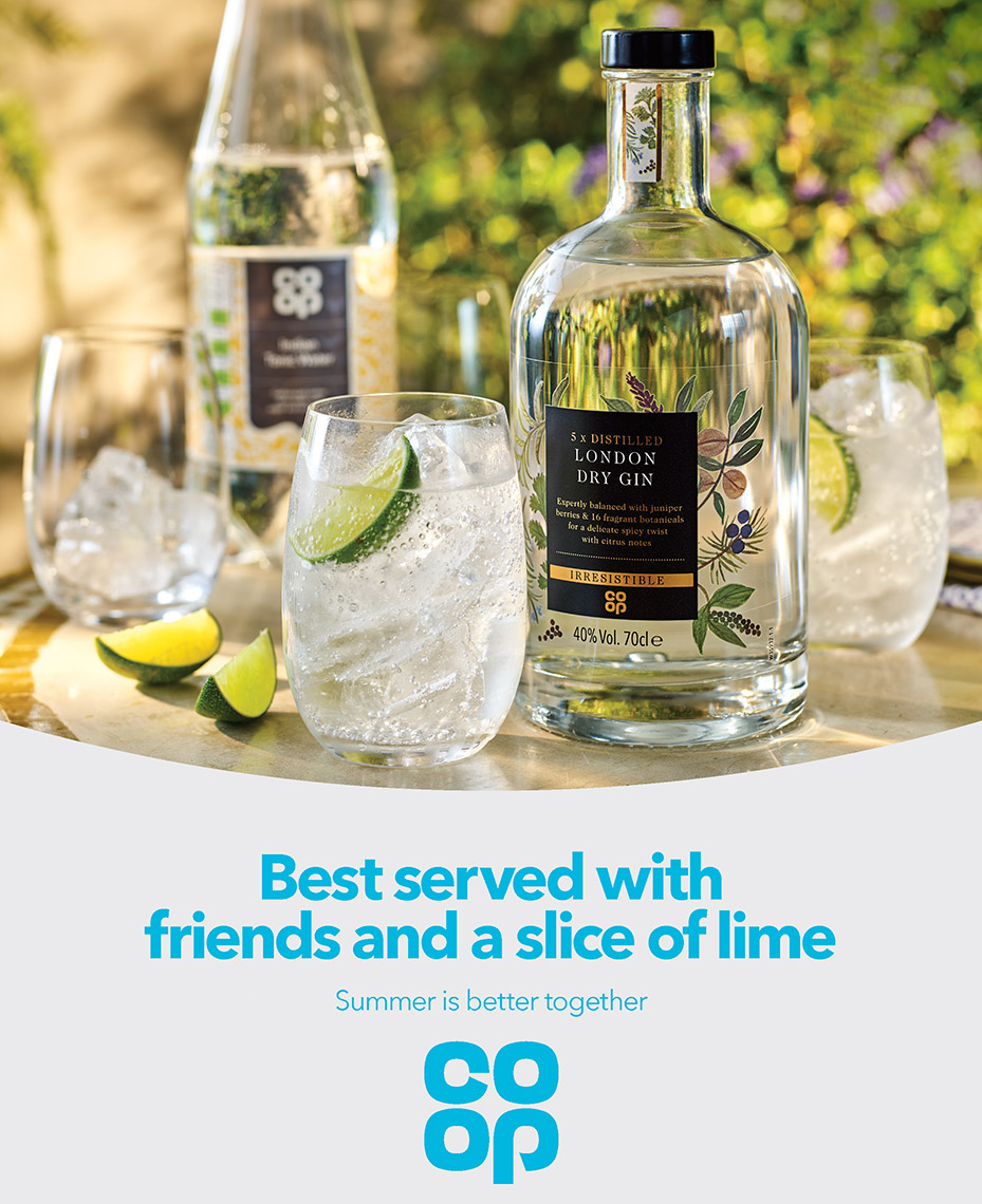 Co Op Gin and Tonic | Colin Campbell-Food Photographer