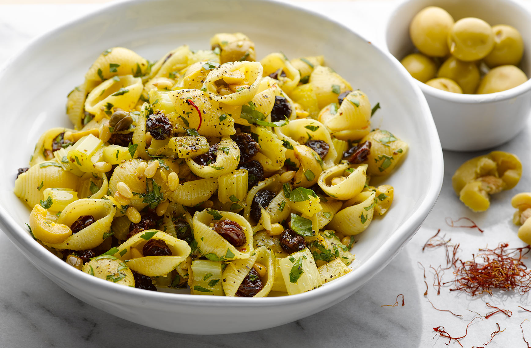 Ottolenghi Conchiglie with saffron | Colin Campbell-Food Photographer