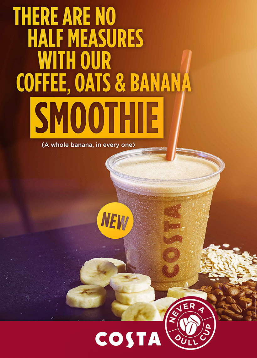 Costa Cofee smoothie | Colin Campbell-Food Photographer