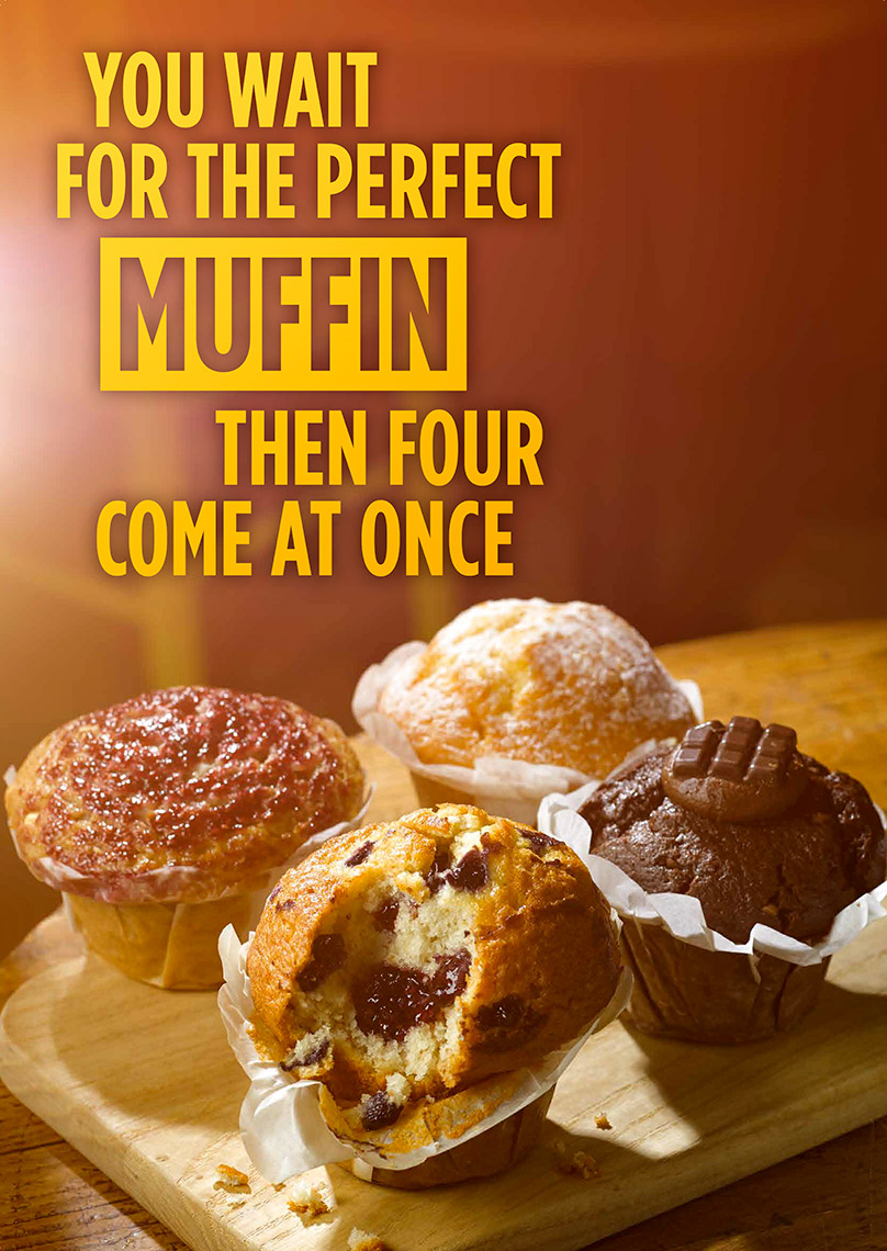 Costa Coffee with muffins | Colin Campbell-Food Photographer