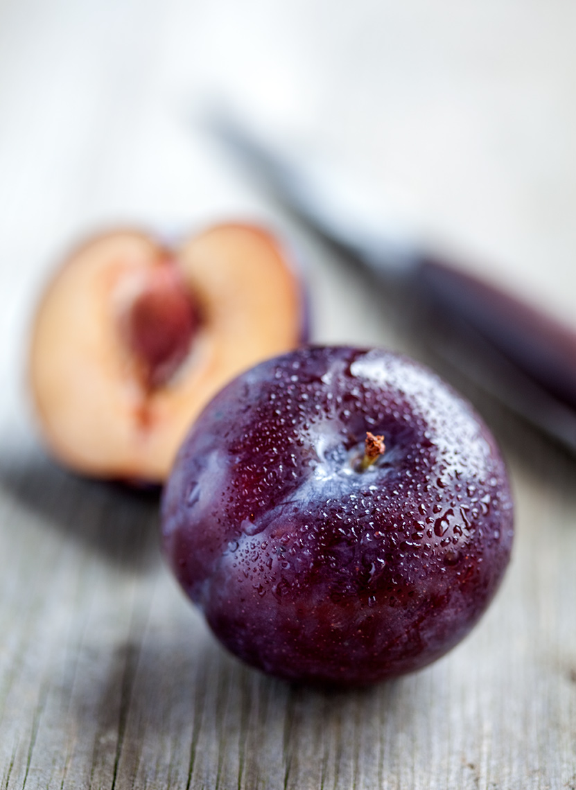 Cut plum | Colin Campbell - Food Photographer