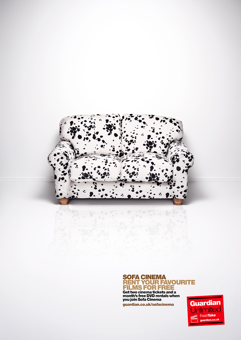 Guardian Sofa Cinema 101-Dalmations | Colin Campbell-Still Life  Photographer