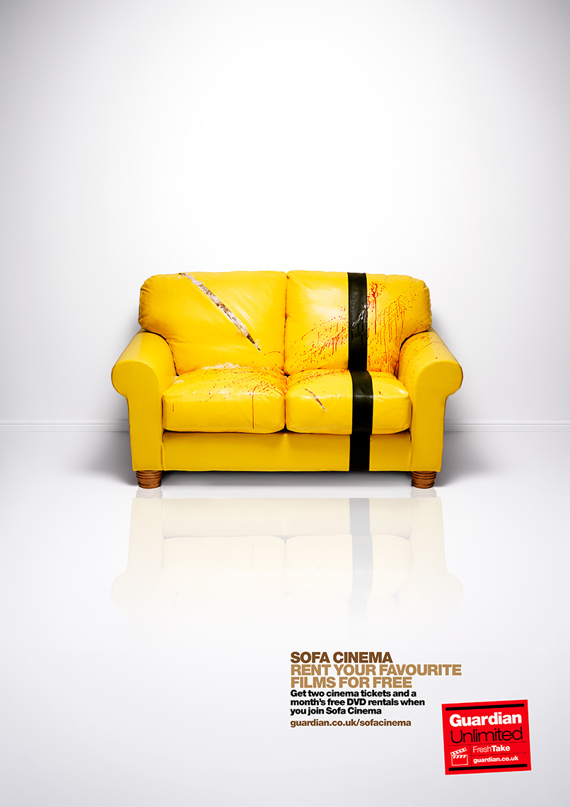 Guardian Sofa cinema Kill Bill | Colin Campbell-Still Life  Photographer