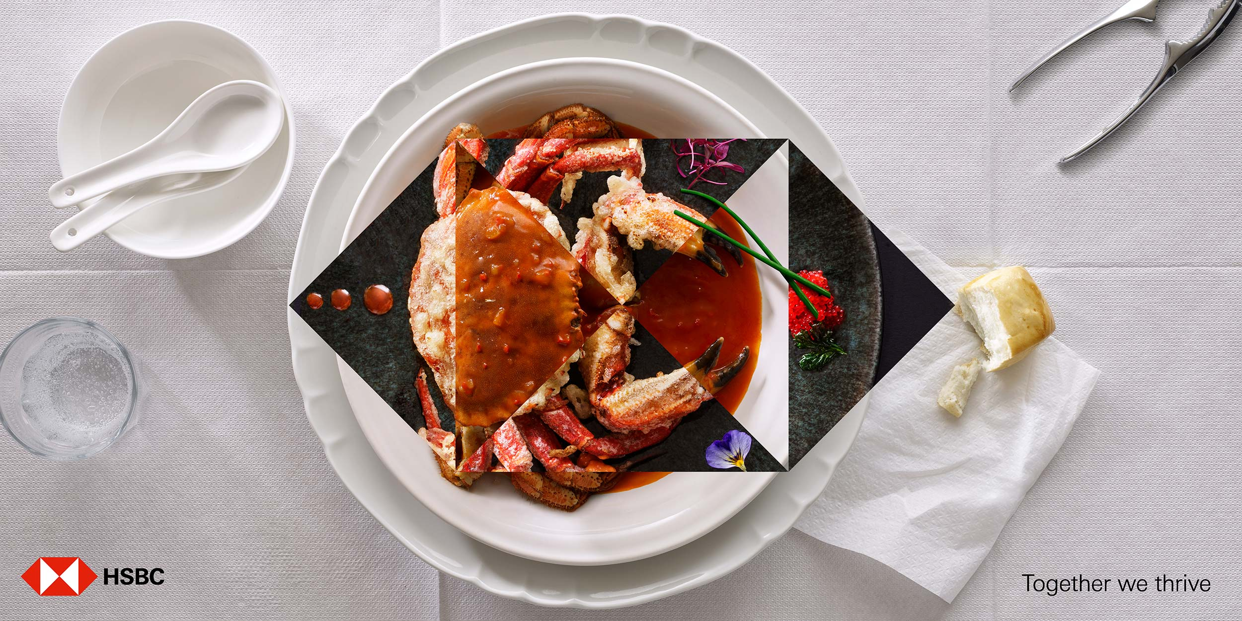 HSBC Singapore Crab | Colin Campbell-Food Photographer