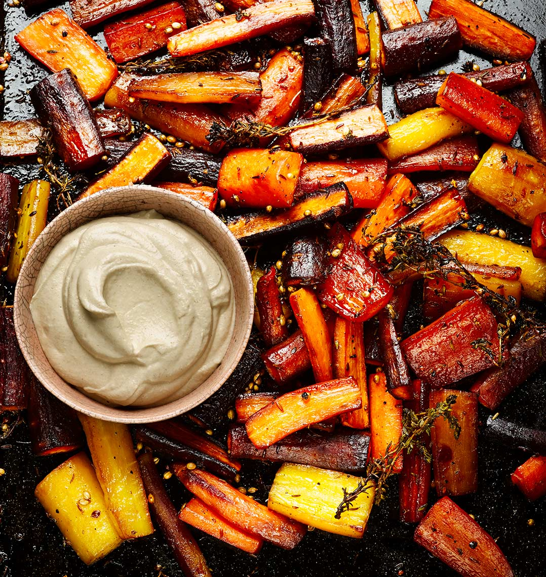 Honey roasted Carrots and tahini | Colin Campbell-Food Photographer