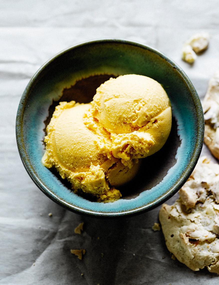 Mango yoghurt and cardamom ice cream | Colin Campbell-Food Photographer