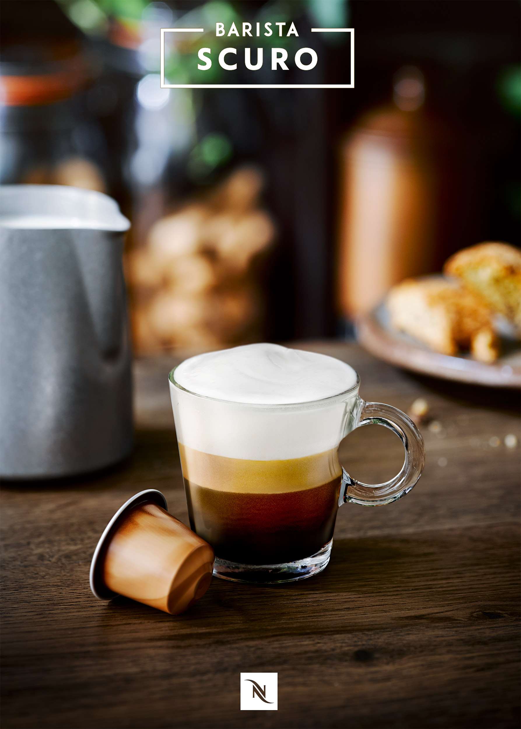 Nespresso Espresso Machiato coffee | Colin Campbell-Food Photographer