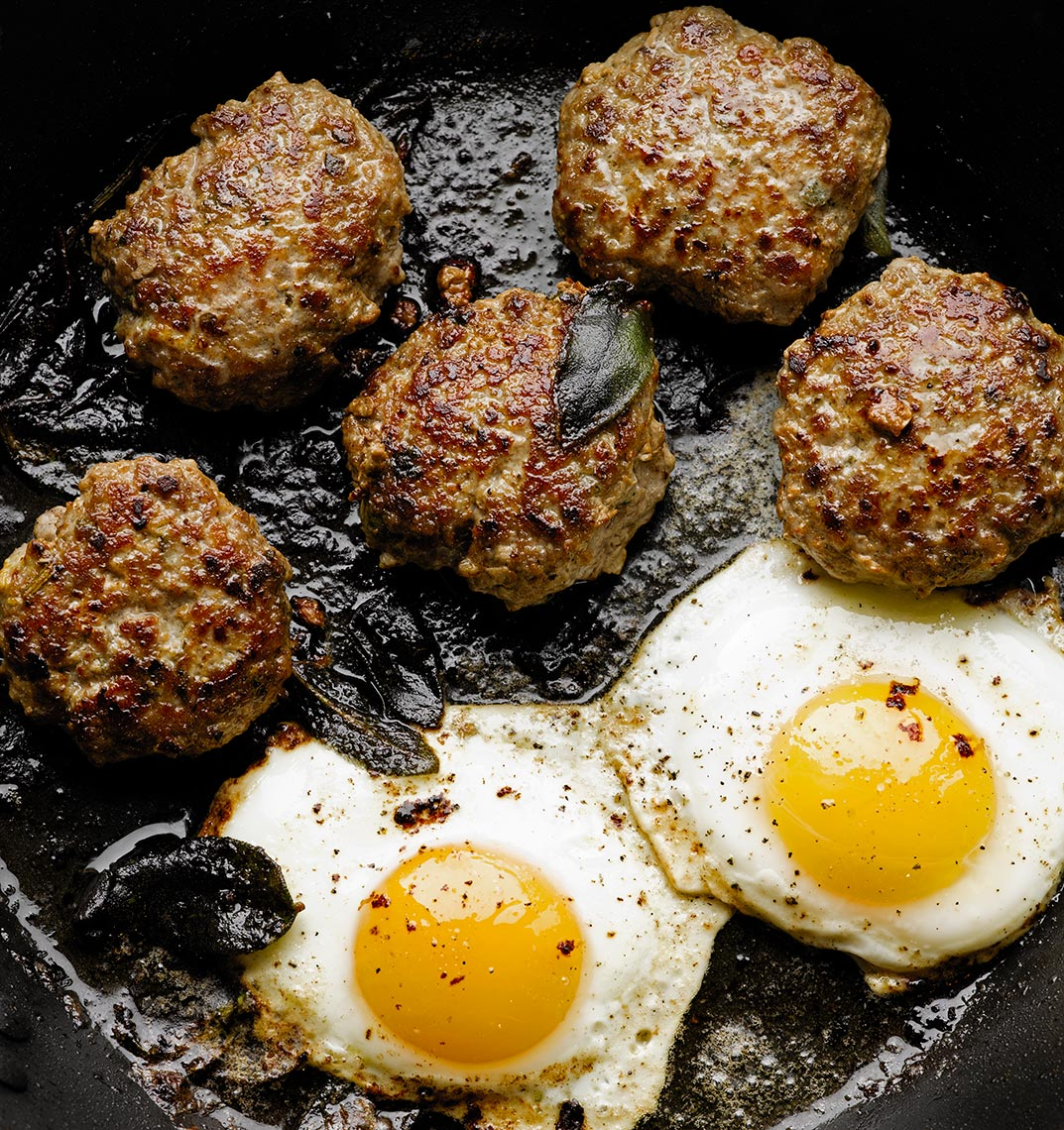 Quatre Epices sausage patties | Colin Campbell-Food Photographer