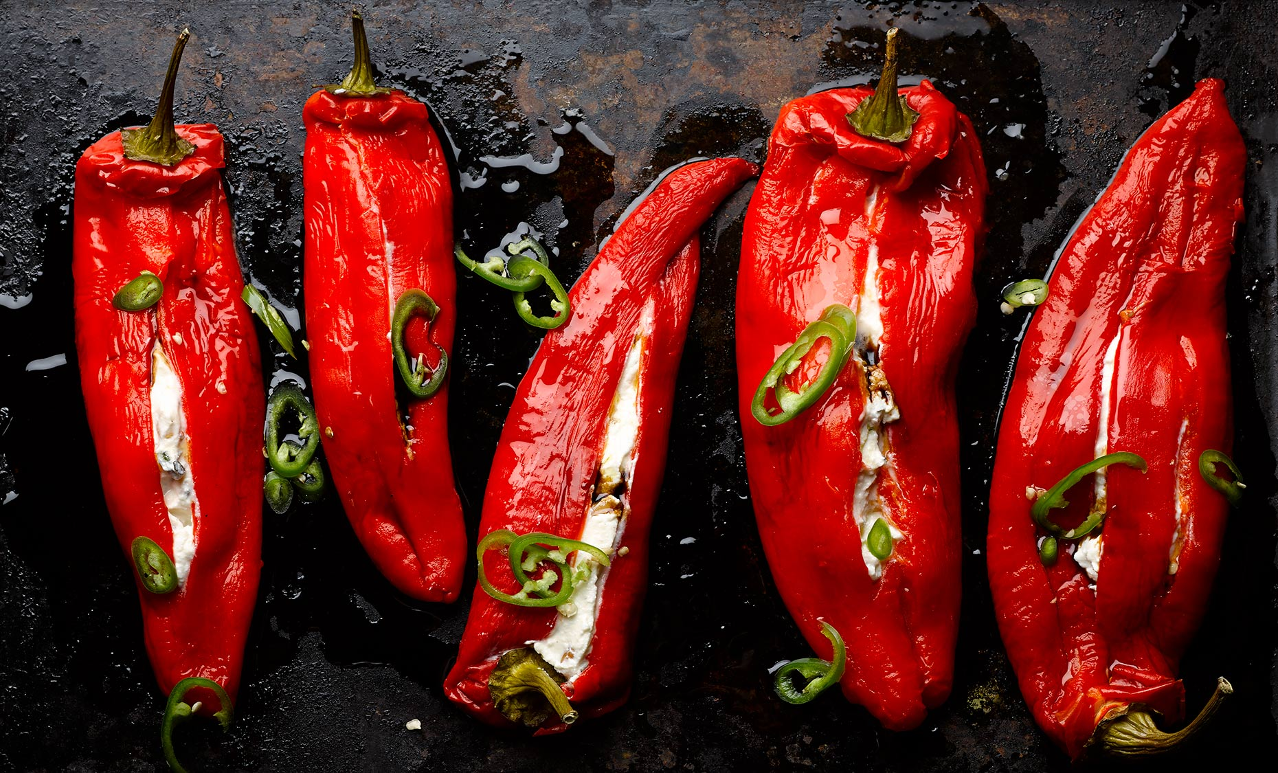 Ottolenghi Stuffed Romano Peppers | Colin Campbell-Food Photographer