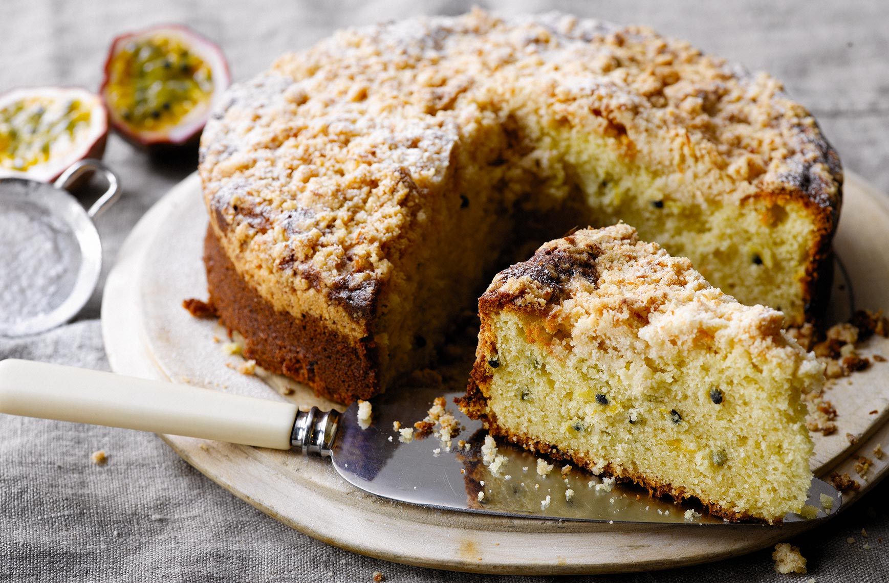 Passion fruit cake | Colin Campbell - Food Photographer