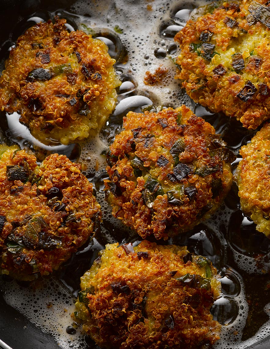 Quinoa cakes | Colin Campbell-Food Photographer