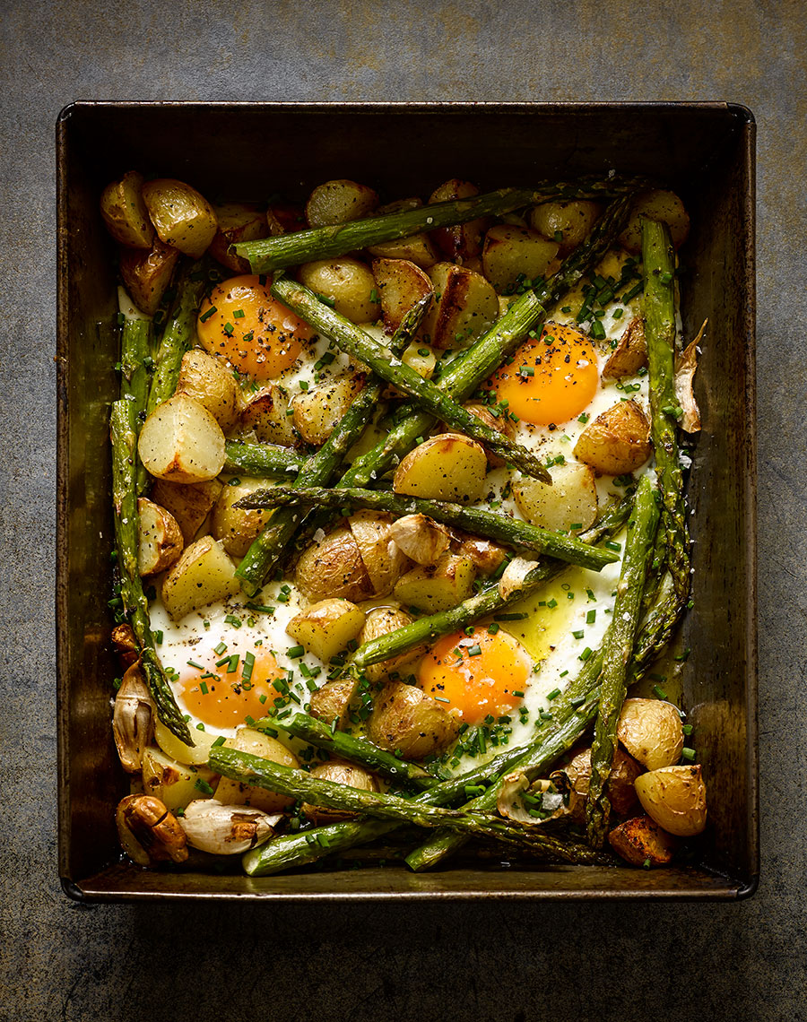 River cottage Asparagus and new potatoes | Colin Campbell - Food Photographer