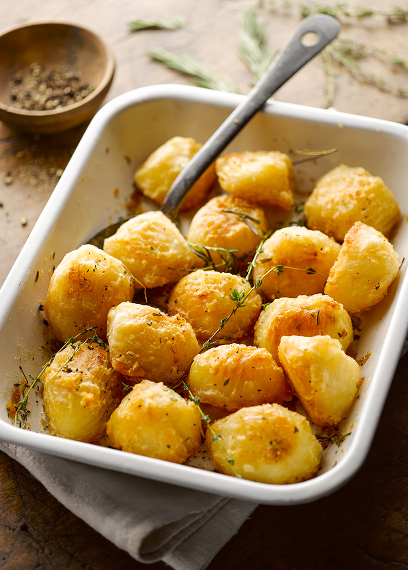 Tesco Roast Potatoes | Colin Campbell-Food Photographer