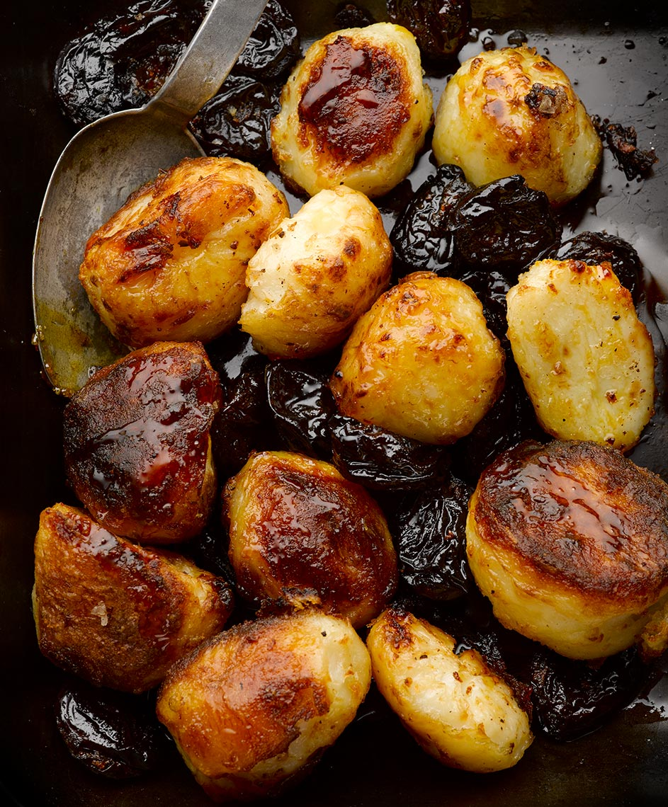 Ottolenghi Roast Potatoes and prunes | Colin Campbell-Food Photographer