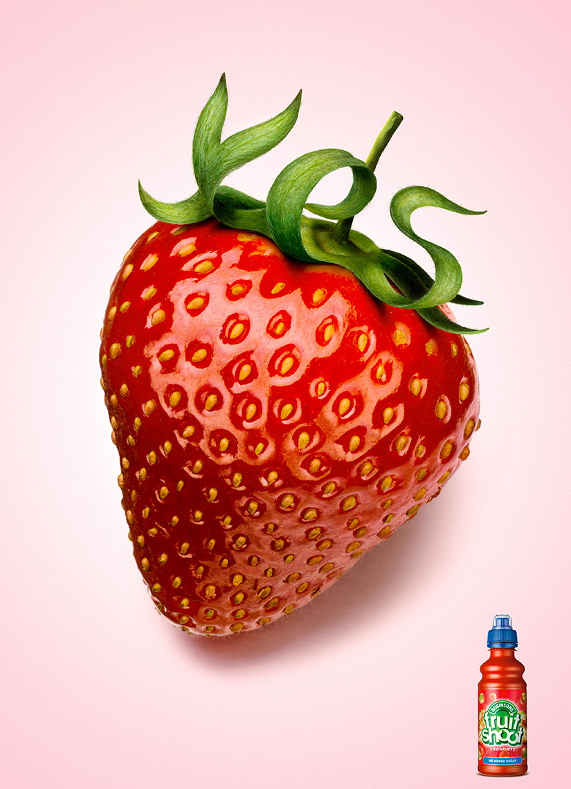 Robinsons Fruit Shoot Strawberry | Colin Campbell-Food Photographer