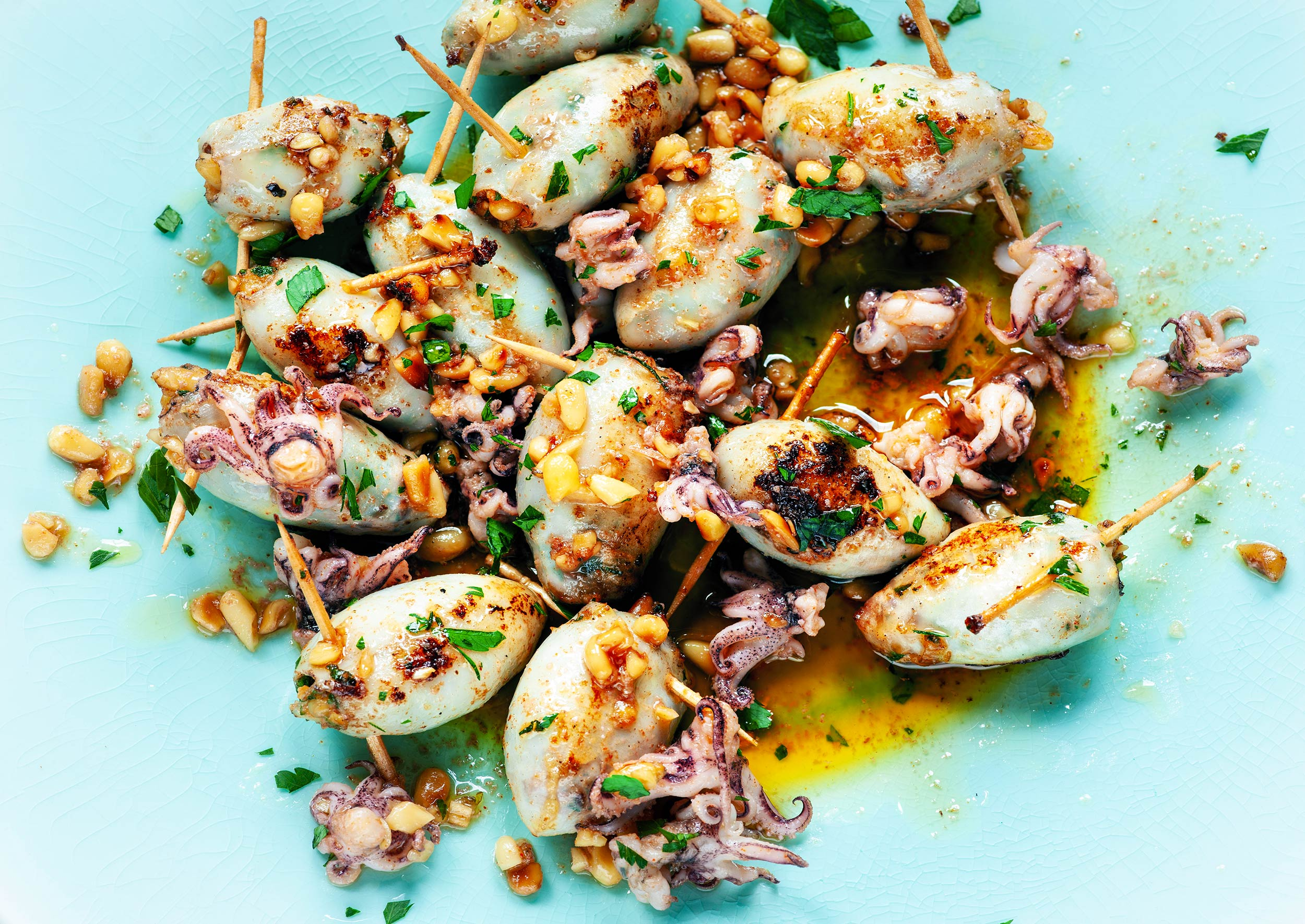 Stuffed-Squid-with-Pine-nuts|London food photographer