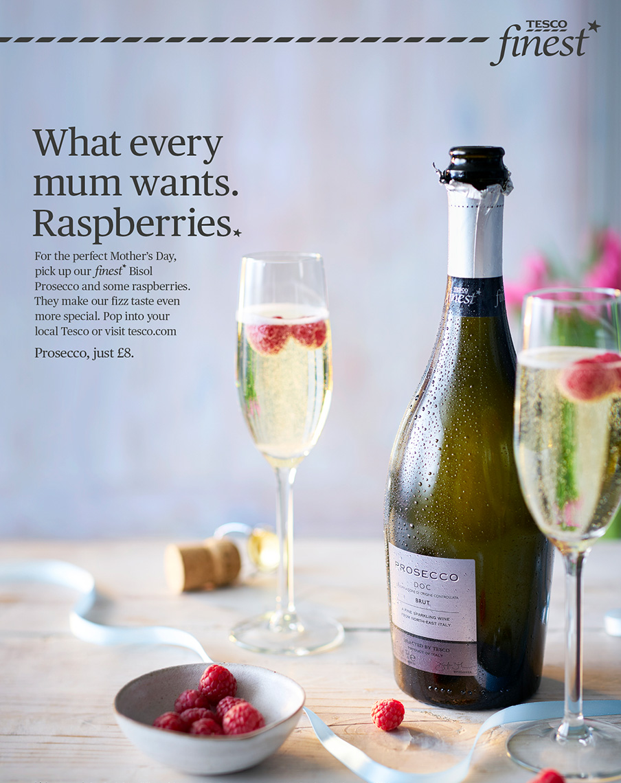 Tesco Finest Prossecco | Colin Campbell-Food Photographer