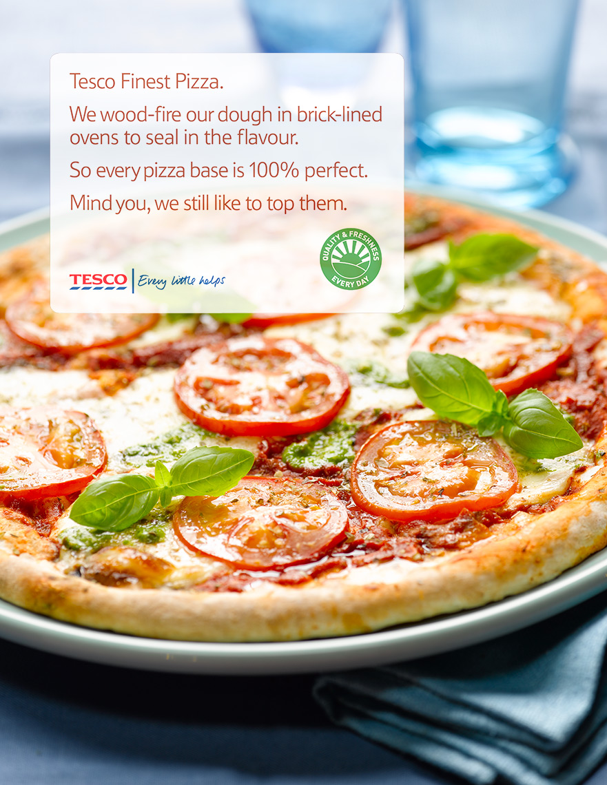 Tesco Pizza | Colin Campbell-Food Photographer