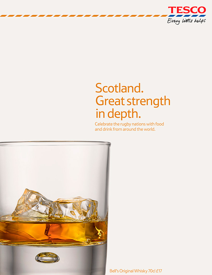 Tesco Whisky glass | Colin Campbell-Food Photographer