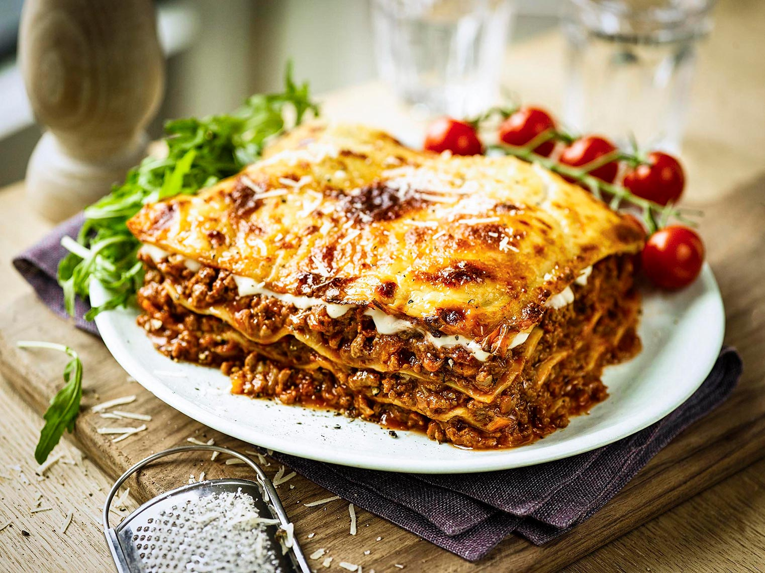 Tesco lasagne | Colin Campbell-Food Photographer