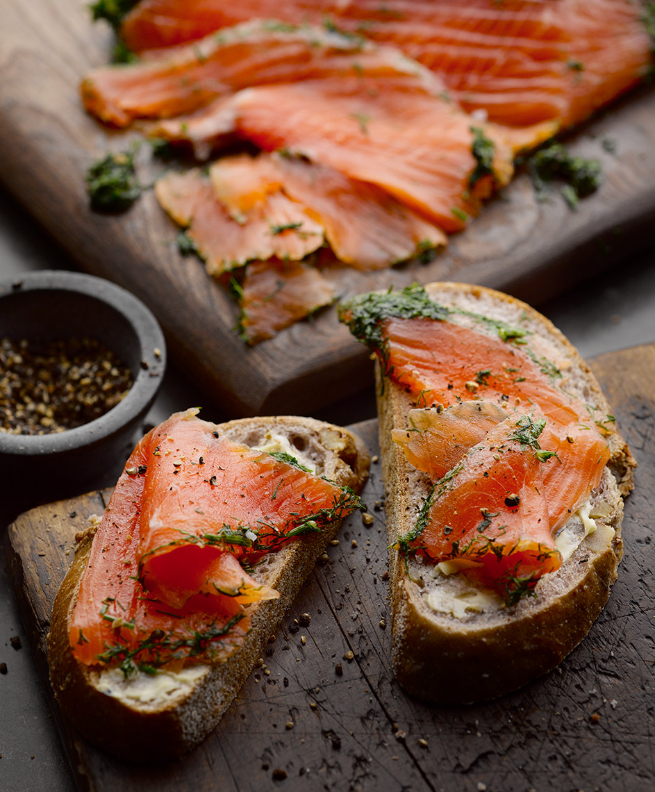 Tom Kitchin Cured salmon | Colin Campbell - Food Photographer