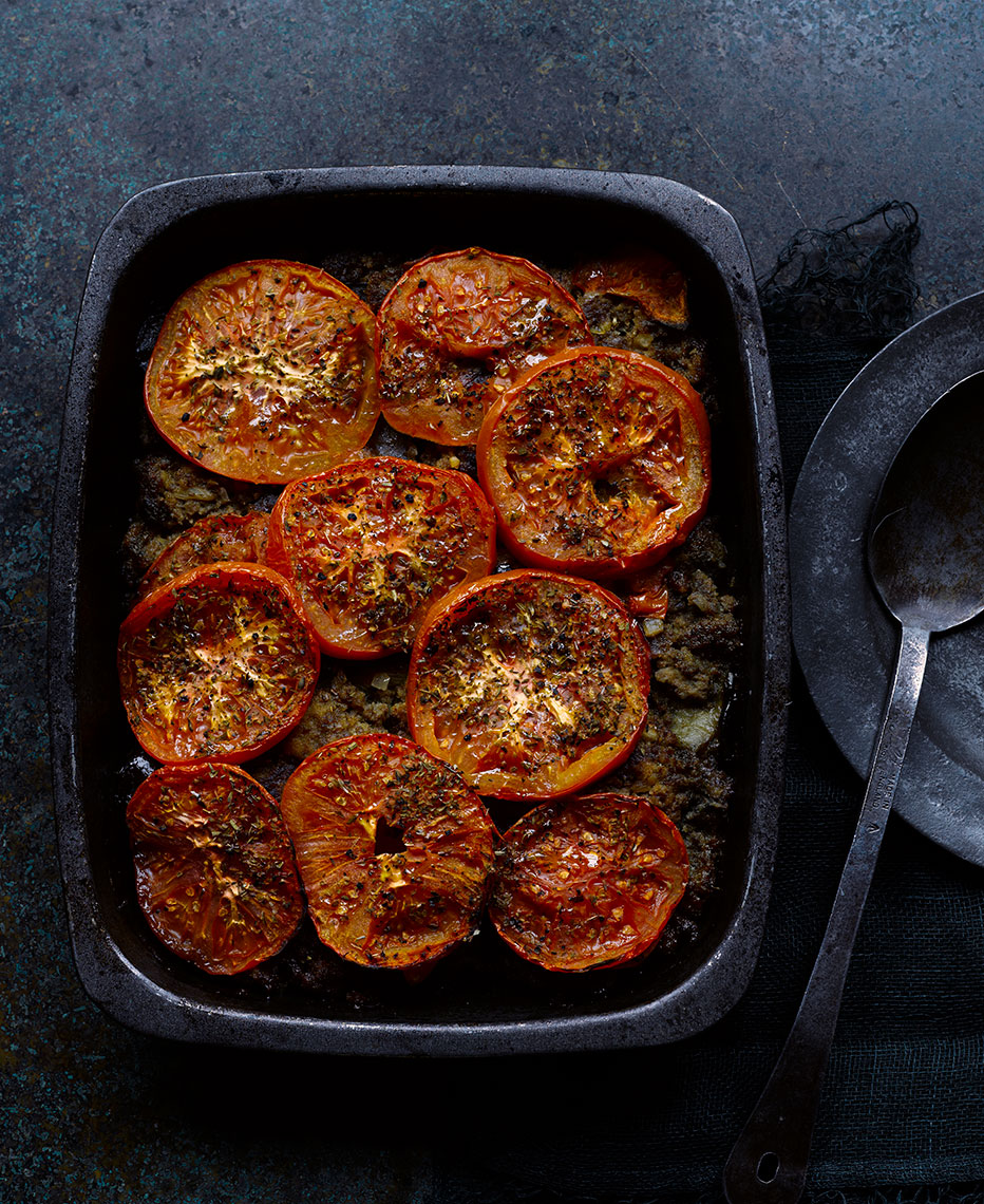 Tomato bake | Colin Campbell-Food Photographer