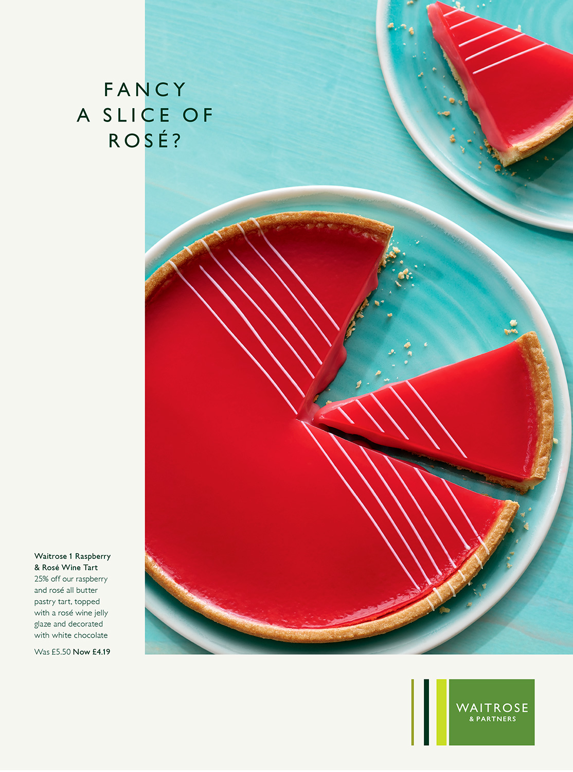 Waitrose Summer tart - Food photographer London