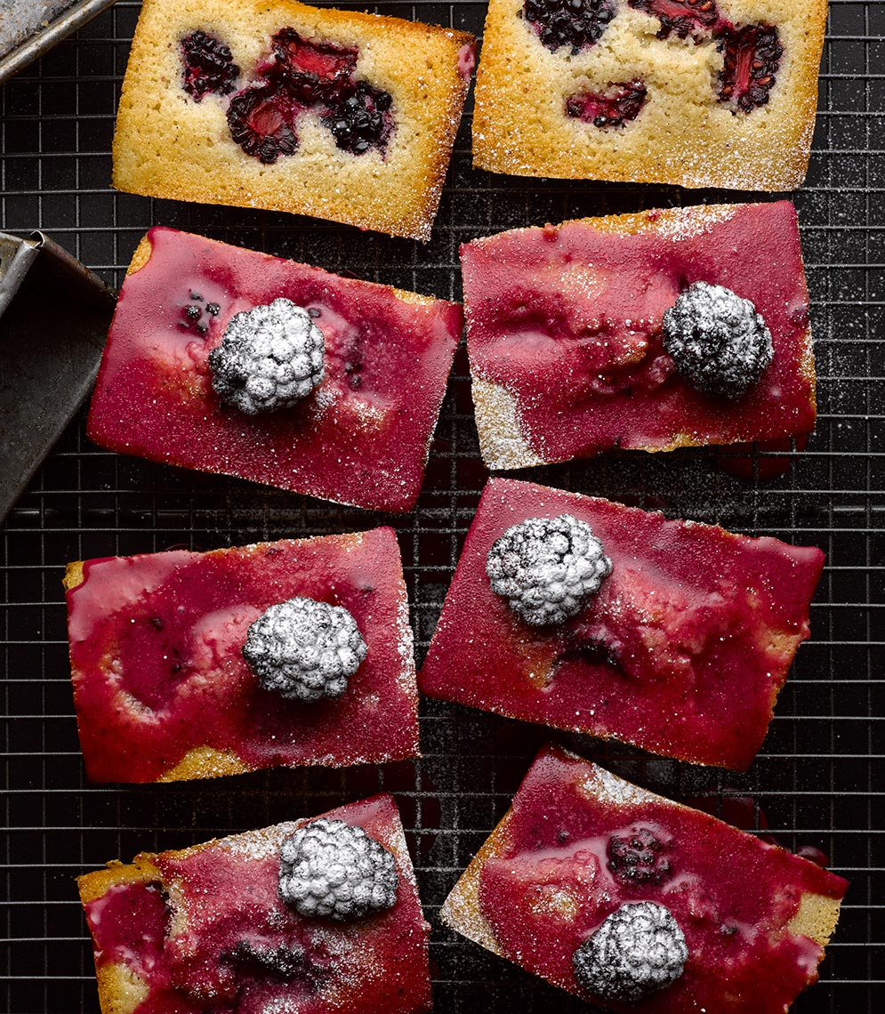 Ottolenghi Blackberry Friands | Colin Campbell-Food Photographer