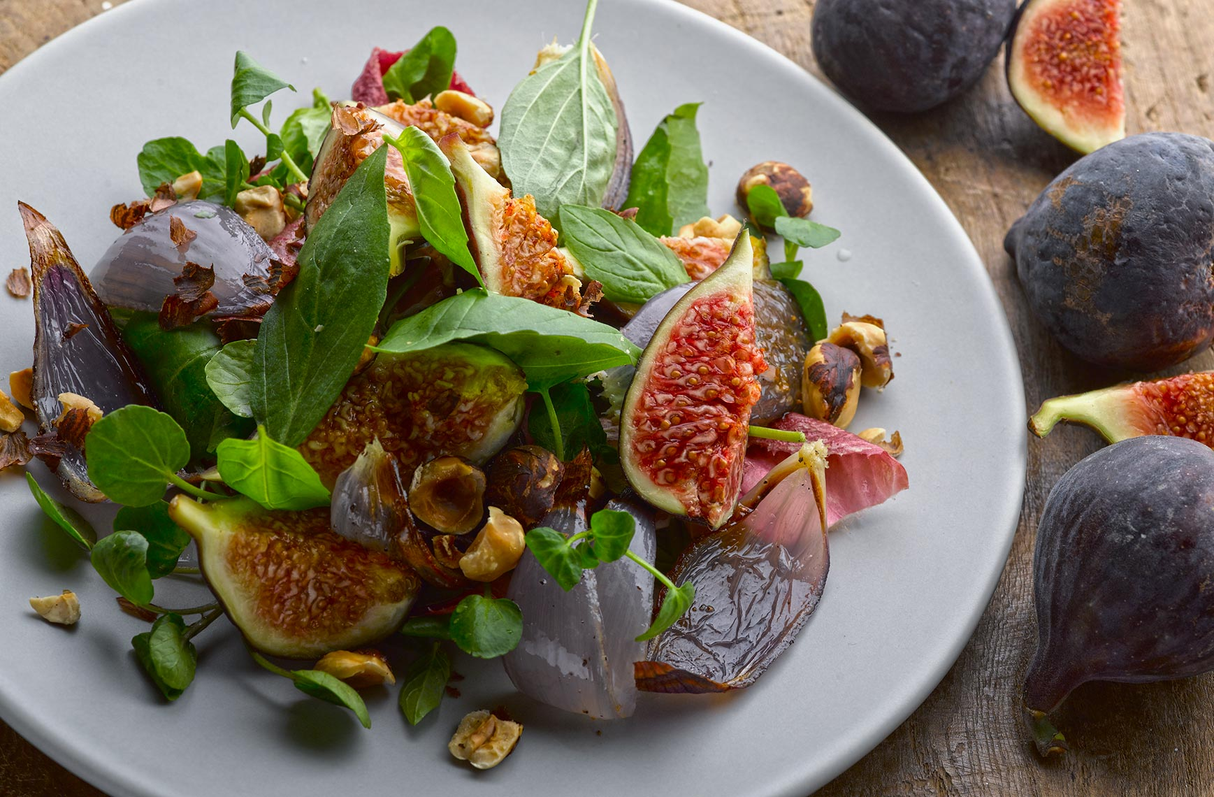 Ottolenghi Fig salad | Colin Campbell - Food Photographer