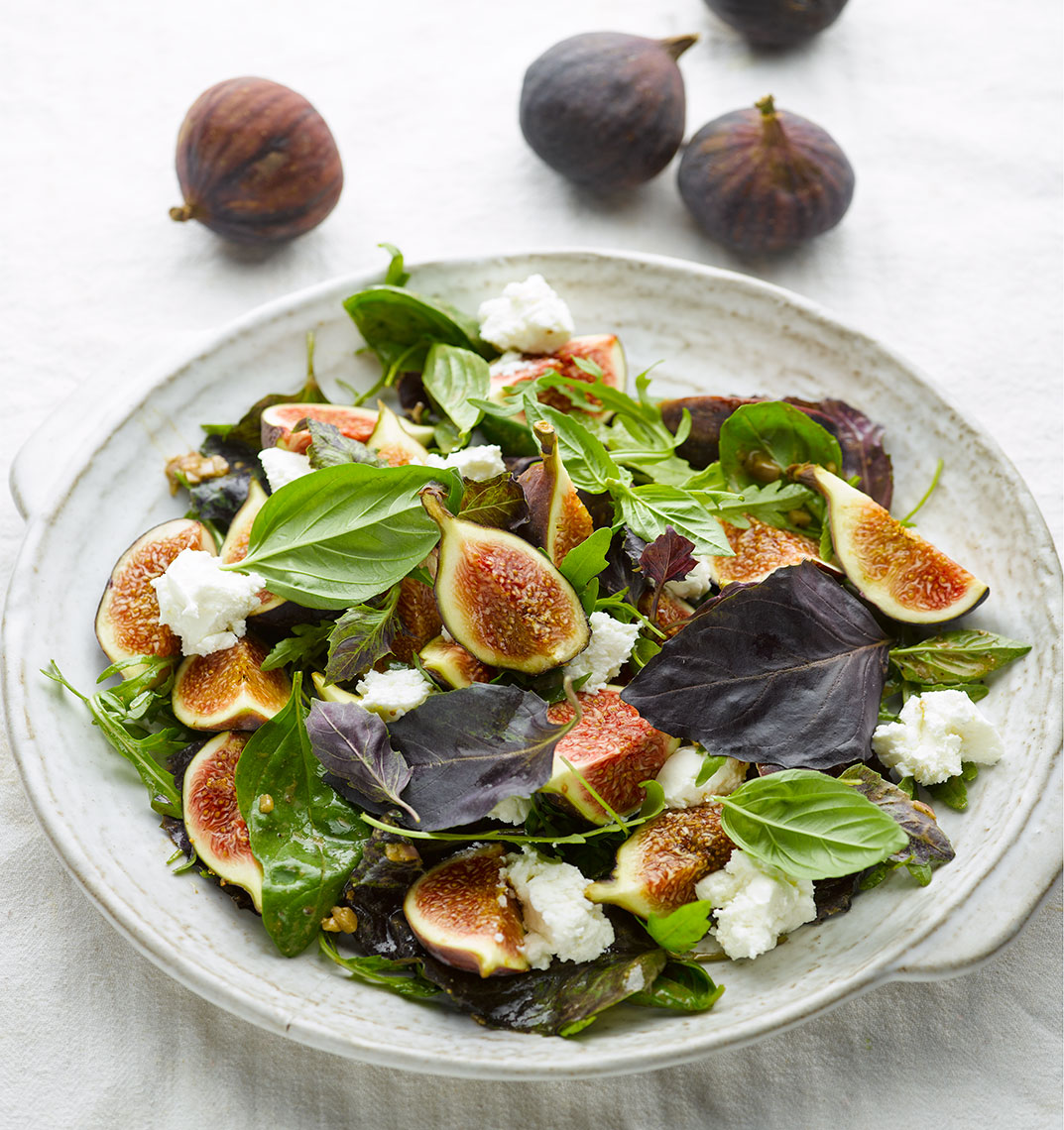 Ottolenghi Figs with basil | Colin Campbell-Food Photographer